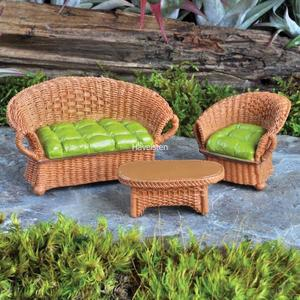 Billede af Wicker group, brown fra Fiddlehead Fairy Gardens