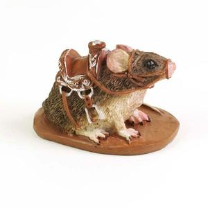 Billede af Mog the Mouse with saddle fra Fiddlehead Fairy Garden