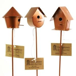 Mini bird houses, 3 ass.