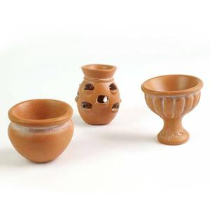 Miniature Terracotta potter, 3 stk.