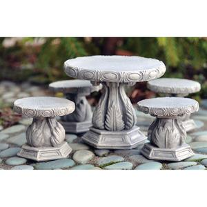 Stone stools, 2 pc. set