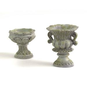 Stone urns, 2 pc. set