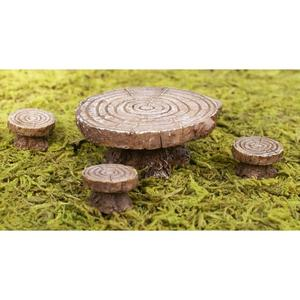 Log table & stools, 5 pc.