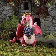 Dragon with flowers / Drage med blomster