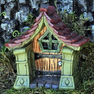Copper fairy door / Kobberfarvet dør til feerne
